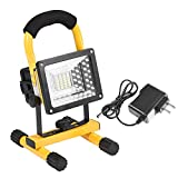 COB Work Light, 24 LED IPX5 Waterproof Portable Three Modes 360 Degrees Rotating USB Rechargeable Security Work Emergency Garden Outdoor Flood Spot Light Lamp for Billboards Camping Hiking Fishing Car(US Plug)