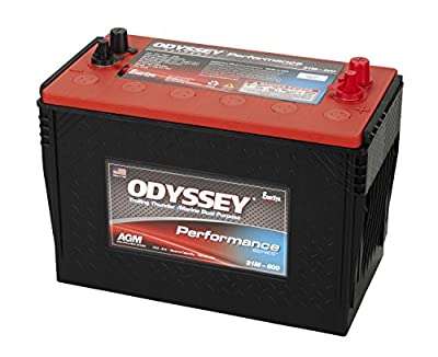 Odyssey Battery 0793-2050 Performance Powersport Battery Marine Group 31 802 CCA w/Stud/SAE Terminals Performance Powersport Battery