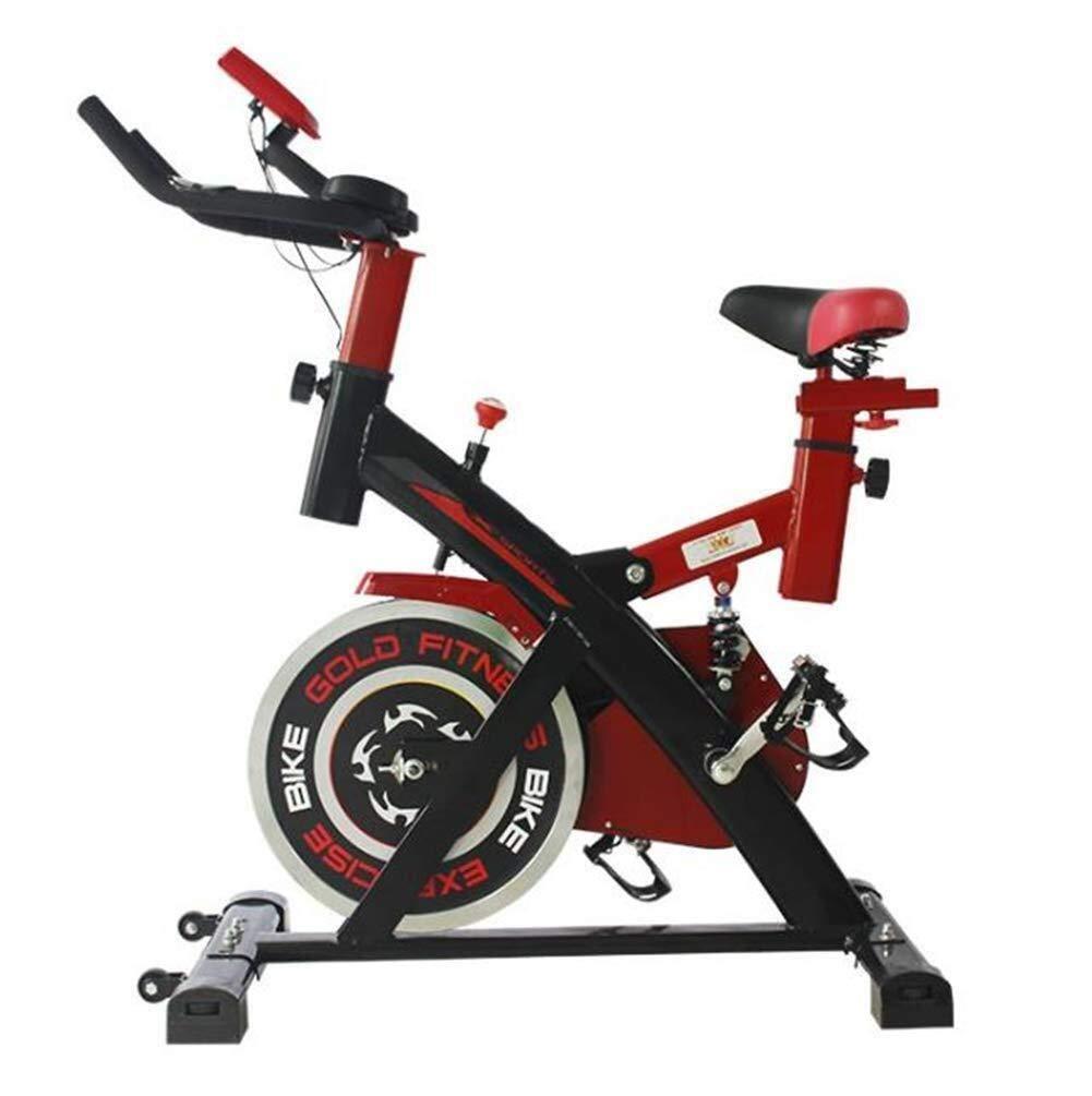 DCCRBR 屋内自転車リラクタンス6キロフライホイール有酸素運動、多機能モニタ春ダンパースポーツバイク フィットネス 自転車