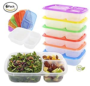 Quantum Produkt Meal Prep Lunch Box Bento Containers-SET OF 6