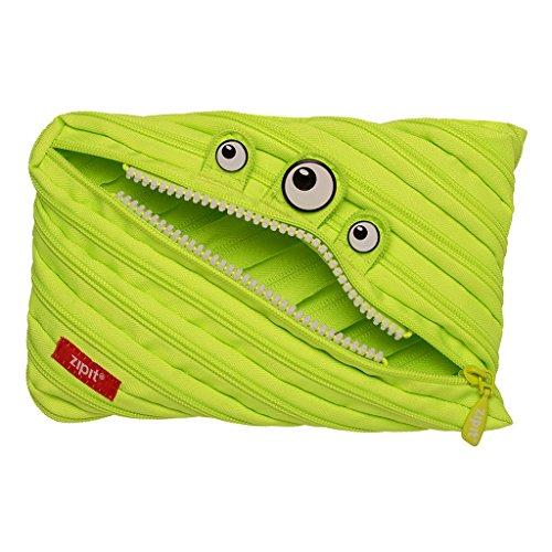 Lime Zipper - ZIPIT Monster Big Pencil Case, Lime