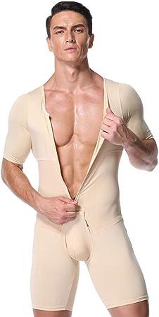 Dong Hombres Compression Body Shaper Todo En Uno Body Fajas Tallas Grandes Fajas Body Ganchos Correas Complexion S Amazon Es Hogar