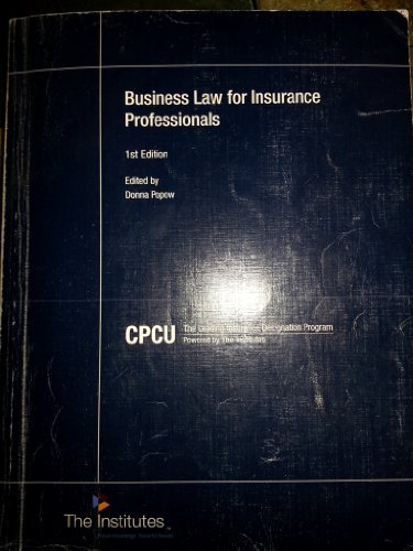 Business Law F/Insurance Professionals
