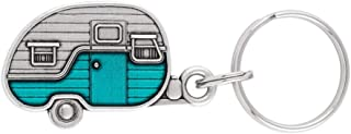 product image for DANFORTH - Little Camper Keyring - Key Fob - Pewter - Teal - Handcrafted - Made in USA