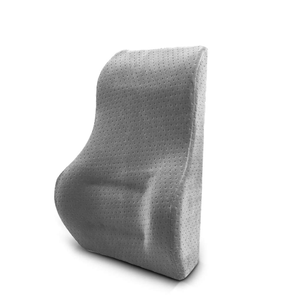 XJ&DD Lumbar Support Cushion,Lower Back Pad Pillow,Premium Memory Foam for Home Computer Games Car Office Travel-C 44x28x14cm(17x11x6inch)