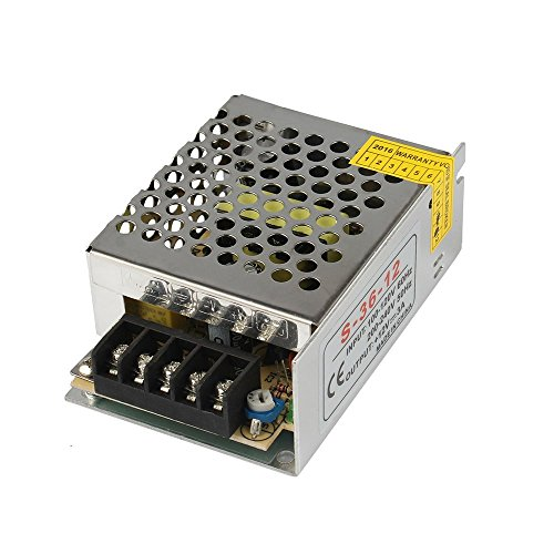 GALYGG AC 110V-220V to DC 12V 3A (36W) Universal Regulated Switching Power Supply,Transformer,for 2835 3528 5050 LED Strip Lights,CCTV,Radio,Computer Project,Light Fixtures Lighting