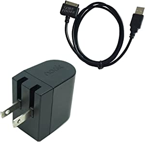 Nook HD Charger Nook Tablet Charging Cable Barnes Noble Power Kit AC Wall Charger Adapter Plus USB Data Cable for Nook HD 7 Inch HD+ 9 Inch BNTV400 BNTV600