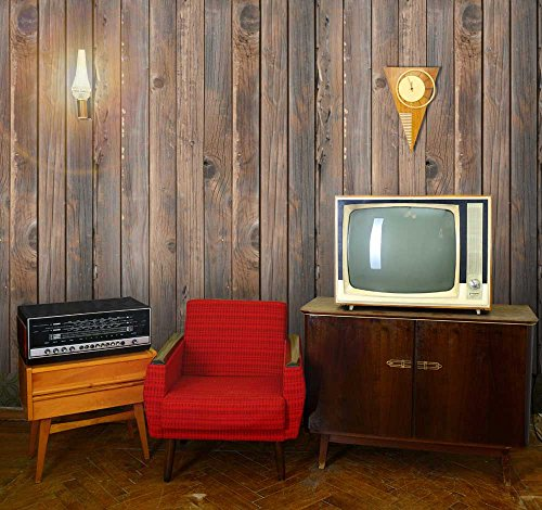 Vertical Brown Vintage and Retro Wood Textured Paneling Wall Mural Removable Wallpaper
