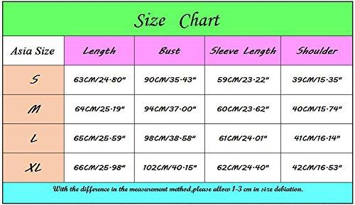Elegante Blusa Maglietta shirt Senza Donna Spalline Lunga T Sentao Manica Camicia Basic Rosa Top zxC6qWw