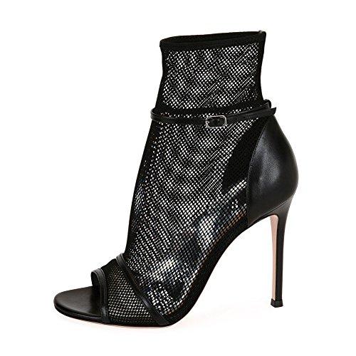 Aggiornamento Elegante Donna KJJDE Tacco Dance Black Tacco Con TLJ Alto Pole 914 Sexy Maglia Vuota Altissimo Sexy Bwwq7d