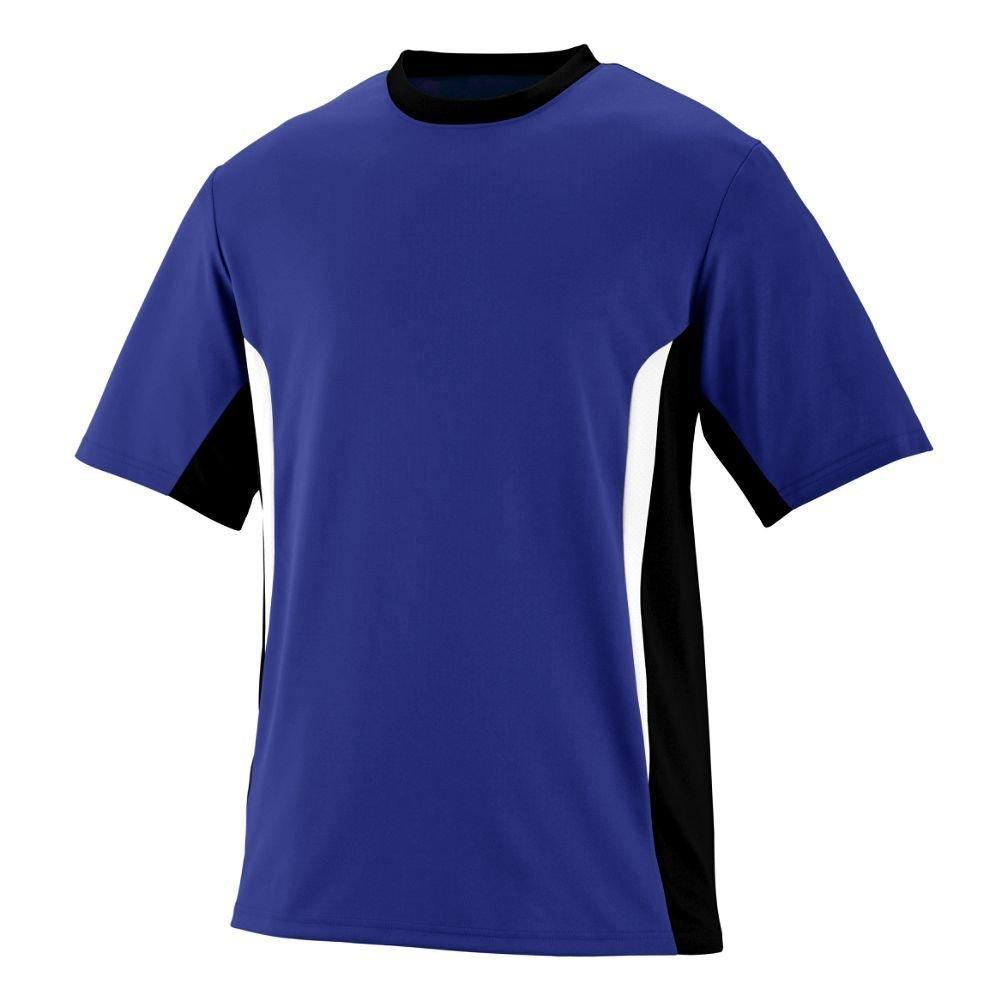 Augusta Sportswearメンズサージジャージー B00HJTKV3Q Medium|パープル/ブラック/ホワイト パープル/ブラック/ホワイト Medium