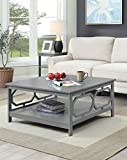Large Square Coffee Table Convenience Concepts 203263GY Omega Square Coffee Table, 36-inch, Gray
