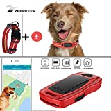 ZEERKEER Pet GPS Tracker, Dog GPS Tracking and pet Finder, The GPS Dog Collar Attachment, Locator Waterproof, Tracking Device for Dogs, Cats, Pets Activity Monitor (Red)