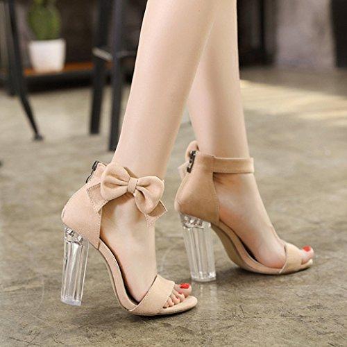 Tac Esmerilado Superior De Mujer Abierta Sandalias Verano Zapatos Punta Desnudo Color PZwvaW7xTq