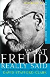 """""""What Freud Really Said An Introduction to His Life and Thought (What They Really Said Series)"""" av David Stafford-Clark"""