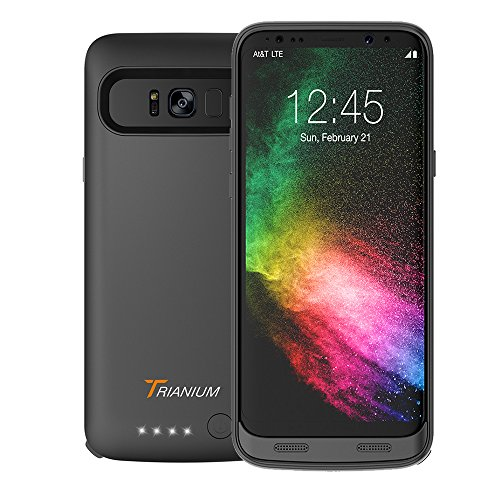 Galaxy S8 Battery Case, Trianium Atomic Pro s8 Charging Battery Pack for Samsung Galaxy S8 - 4500mAh Extended Battery Fast Charger [Quick Charge Past-Thru] Protective Case Power Pack Juice Bank