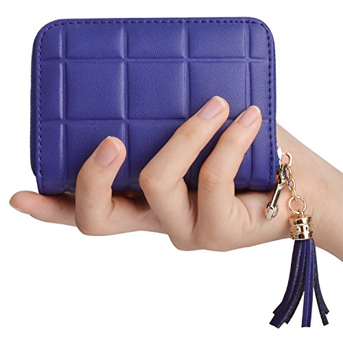 Genuine Leather Credit Card Wallet Women's Card Holder for Travel and Work Small Wallet for Women by MaxGear (Image #1)