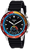 Fossil Q Crewmaster Gen 2 Men's Black Leather Hybrid Smartwatch FTW1141