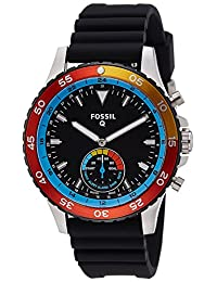 Fossil Q Crewmaster 2 Hybrid Black Silicone and Stainless Steel Smartwatch