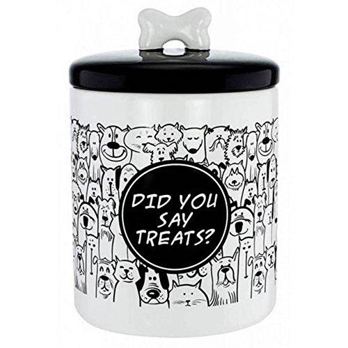Ceramic Dog Treat Jar - FineLife Ceramic Pet Treat Jar