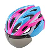 Easecamp Cycling Bike Helmet with Detachable Magnetic Visor Goggles Shield (Pink)