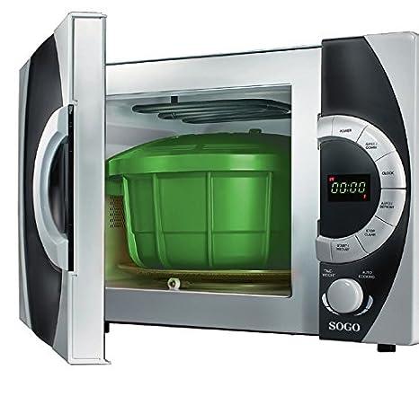 Sogo OLL-SS-10775G - Olla a presión para microondas, 3,2 l, color verde: Amazon.es: Hogar