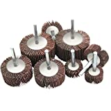 Flap Sanding Wheels Kit for Drill - Set of 15