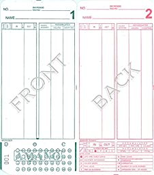 Time Cards for the Amano MJR-8000 Time Clock