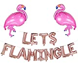 Lets Flamingle Balloons Banner | Lets Flamingle Theme Party Supplies Hawaii Party