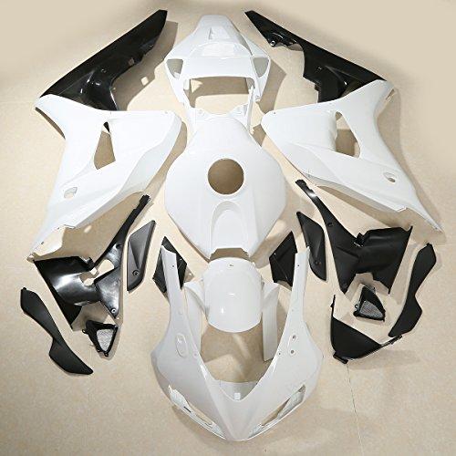 XMT-MOTO ABS Injection Fairings Kit BodyWork fits for Honda CBR 1000 RR 2006-2007,Unpainted - Abs 2006 Fairing