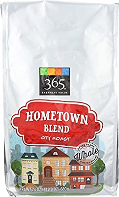 365 Everyday Value, Hometown Blend City Roast Whole Bean Coffee - Bag, 24 oz from 365