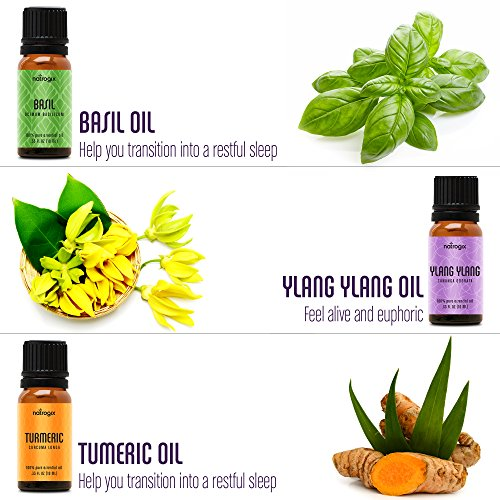Natrogix Nirvana Essential Oils - Top 18 Essential Oil Set 100% Pure Therapeutic Grade 18/10ml Incl. Lavender, Moroccan Rosemary, Tea Tree, Eucalyptus, Lemongrass and 13 More w/Free E-Book by Natrogix (Image #3)