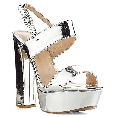 364ade925d6 Qupid Women s Velvet Open Toe Ankle Strap Chunky Heel Slingback Platform  Pump Heeled Sandals 80%