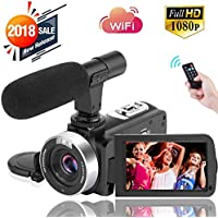 Digital Video Camera WiFi Camcorder Full HD 1080P 30FPS...