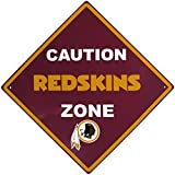 NFL Washington Redskins Caution Wall Sign Plaque, Red, 14″