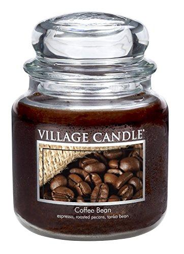 Coffee 16 Oz Jar Candle - Village Candle Coffee Bean 16 oz Glass Jar Scented Candle, Medium