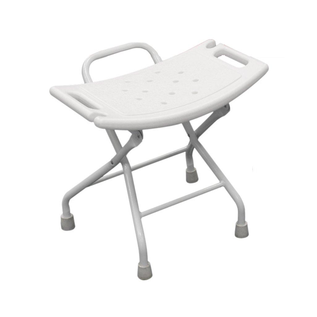 折り畳み式シャワーチェアアルミ合金折り畳み式シャワーシートスツール高齢者/障害者用アンチスリップシャワーシートスツール(安全ロック付き) 100kg B07F5HTHGJ
