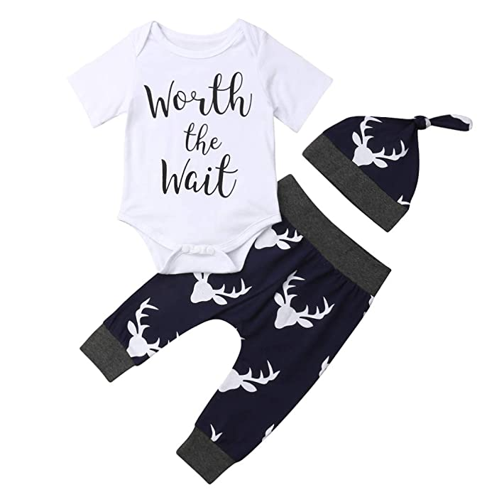 Amazon.com: Worth The Wait - Conjunto de ropa para recién ...