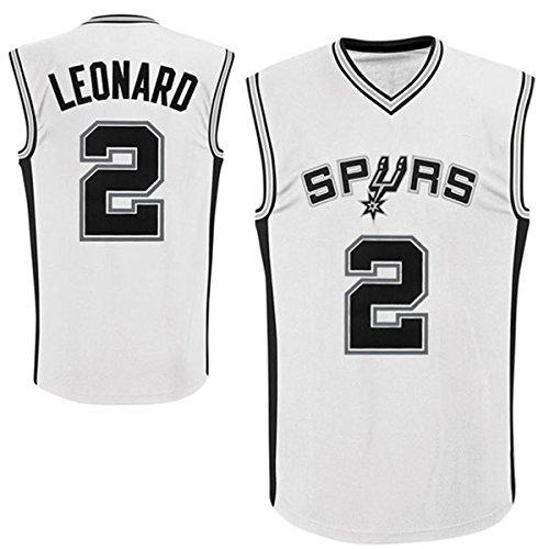 Mens Kawhi Leonard #2 San Antonio Spurs White Home Jersey L