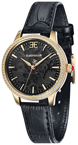 Thomas Earnshaw Womens The Lady Australis Watch - Black/Gold