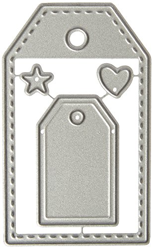 Paper Smooches NOD279 Gift Tags 3 Die, Silver (Tags Felt Gift)