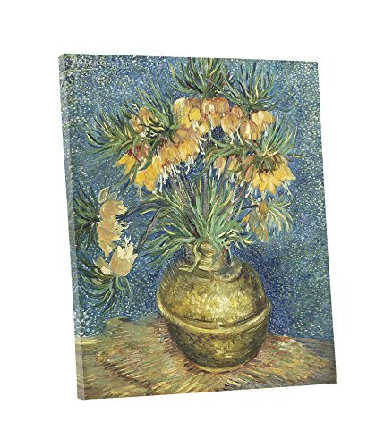 llaries in a Copper Vase, by Vincent Van Gogh - Oil Painting Reproductions - Giclee Canvas Prints Wall Art for Home Decor, Stretched and Framed Ready to Hang (20 x 24 x 1.5 Inch) ()