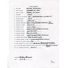 Mclean Stevenson Hand Signed+filled Out 20 Questions Henry From Mash - JSA Certified