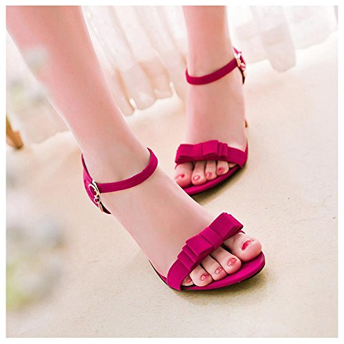 TAOFFEN Women Fashion Stiletto Sandals Strappy Peach OB8Zy
