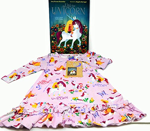"""Price comparison product image Books to Bed """"Uni the Unicorn"""" Toddler/Girls Night Gown and Book Set (4T)"""