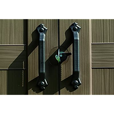 keter factor 8x11 shed doors are lockable