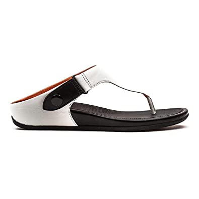 f724eb2c9 FitFlop Womens Gladdie Toe Post Thong Sandal Urban White 10 B(M) US  Buy  Online at Low Prices in India - Amazon.in