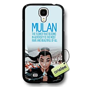 Disney Cartoon Mulan Hard Plastic Phone Case & Cover for Samsung Galaxy S4 - Black
