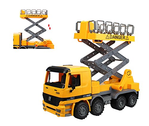 Liberty Imports 15 inches Oversized Friction Super Duty Scaffold Bucket Lift Truck Construction Vehicle Toy for Kids