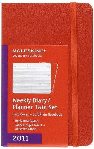 - Moleskine Twin Set Pocket Weekly Diary 12 Months Hard 2011 (Moleskine Srl) by Moleskine (2010-06-17)